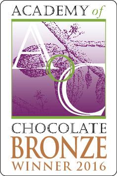Bronze medal Academy of Chocolate Awards winner 2016